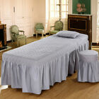 """Spa Massage Bed Cover Sheet Beauty Table Skirt with 21"""" Drop Skirt 190x70cm"""