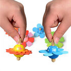Exquisite Wooden Flower Shape Spinning Top Classical Toys Kids Educational Toy