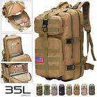 35L Outdoor Military Tactical Shoulder Backpack Rucksack Hiking Camping Trek Bag