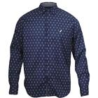 Nautica Anchor Print Long Sleeve Cotton Button Down Shirt