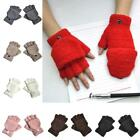 A Pair Warm Half Finger Winter Fingerless Convertible Gloves Mitten Flip Top for sale  Shipping to Canada