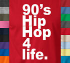 90s HIP HOP FOR LIFE T-Shirt Retro Old School Rap Battle Wu Tang Snoop Music Tee image