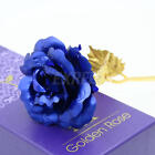 24K Gold Plated Rose Flower Valentine's Day Gift Birthday Romantic Golden Flower
