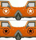 Set of 2 America US U.S. Army Distressed Star Vinyl Decal Sticker Dodge $4.95 USD on eBay
