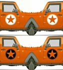 Set of 2 America US U.S Army Distressed Star Vinyl Decal Sticker Dodge $5.95 USD on eBay