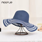 Summer Hats for women Wide Birm Striped Hats Ladies Starw Beach Cap Large Wide