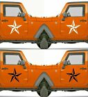 Set of 2 America US U.S Army Distressed Star Vinyl Decal Sticker Dodge $4.95 USD on eBay