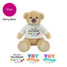 Personalised Name Congratulations Harry Teddy Bear Well done GCSE Exam Gifts