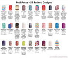 Jamberry Pedi Packs - Choose From 29 Retired HTF Designs