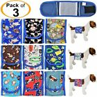 PACK of 3 Dog Diapers Male Boy BELLY BAND Wrap Reusable Washable For SMALL Pet