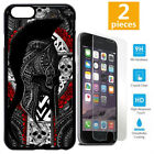 Spartan Greek Warrior Cool Skull Tattoo Phone Case Cover For iPhone X XS 8 S8 S9