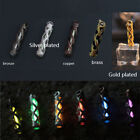 Copper Hollow Keychain Signal Light Knife Bead Necklace Pendant