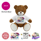 Personalised Name Photo Mothers Day Richard Teddy Bear Presents Gifts for Mum