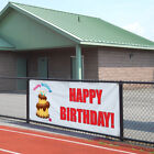 Vinyl Banner Sign Happy Birthday Cake Outdoor Advertising Printing $199.99 USD on eBay