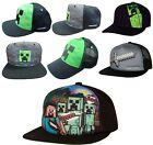 Official Minecraft Kids Childrens Minecraft Baseball Caps Summer Snapback Hats