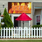 Vinyl Banner Sign Beer #1  Style C Outdoor Marketing Advertising Orange $215.97 USD on eBay