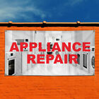 Vinyl Banner Sign Appliance Repair Business Business Marketing Advertising Grey photo