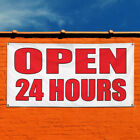 Vinyl Banner Sign Open 24 Hours Body Shop Car Repair Style U Business White