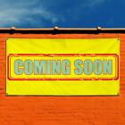 Vinyl Banner Sign Coming Soon! #4 Business Outdoor Marketing Advertising Yellow