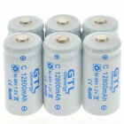 GTL Ni-MH C D Size C D Cell Rechargeable Batteries High Capacity 12800/13800mAh