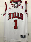 New Men's Chicago Bulls NO.1 Derrick Rose Basketball jersey Embroidery White on eBay