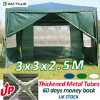 'New Garden Heavy Duty Gazebo Marquee Party Tent 3x3 M Wedding Canopy 4 Size Door