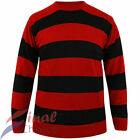 UNISEX FANCY DRESS COSTUME DENNIS THE MENACE STYLE RED AND BLACK T-SHIRT STAG DO