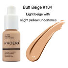 Women 30ml PHOERA Matte Oil Control Concealer Liquid Foundation Beauty USA