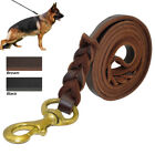 Genuine Leather Dog Lead Soft Braided Small Large Durable Dogs Training Leash