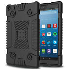 For Amazon Kindle Fire HD 8 2018 8th Gen Armor Silicone Case+Screen Protector