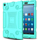 For Amazon Kindle Fire HD 8 2018 8th Gen Armor Silicone Case/Screen Protector