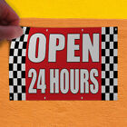 Decal Sticker Open 24 Hours Auto Body Shop Car Repair Business Store Sign Red
