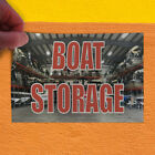 Decal Sticker Boat Storage #1 Business Boat Storage Outdoor Store Sign Grey