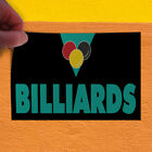 Decal Sticker Billiards #1 Lifestyle Billiard Outdoor Store Sign Black $189.98 USD on eBay