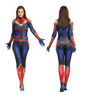Captain Marvel Cosplay Adult Kids Costumes 3D Tights jumpsuits Cool