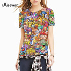 Raisevern Harajuku New Pokemon 3D T Shirt Anime Character Full Printed T-Shirt T