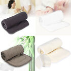 3/4/5 Layers Reusable Bamboo Cloth Washable Diaper Insert Nappy Pad  Liner JSJS