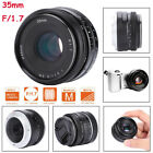 35mm F/1.7 Manual Foucs Aperture Prime Lens for Fuji-X/Sony-E/ Mount Mirrorless