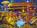 Surfside Motel Tiki Hula Hot Tub Spa Resort Hawaiian Painting CBjork Art PRINT