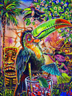 Toucan Lounge Bar Birds Tiki Hula Hawaiian Kitsch CBjork PRINT