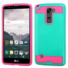 For LG G Stylo 2 Plus Brushed Impact Armor Hybrid Protector Case Cover