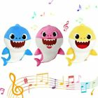 US Kids Cute Baby Shark Plush Singing English Song Toy Cartoon Music Doll Gifts
