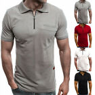 Mens Summer Casual Golf Sport T-shirt  Short Sleeve Polo Shirts Slim Tops Blouse