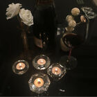 Clear Votive Candle Holders, Glass Tealight Candle Holder for Home Dinner