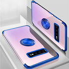 For Samsung Galaxy Note 9 S9 S8 Plating Rubber Clear Ring Magnetic Case Cover