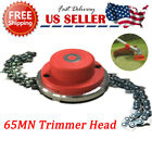 1/2Pcs 65Mn Trimmer Head Coil Chain Brush Cutter Trimmer Grass For Lawn Mower US