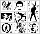 Freddie Mercury Queen Wall Stickers Collection Music Notes Laptop Car Decals