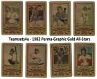 1982 Perma-Graphic Gold All-Stars Credit Cards Baseball Set ** Pick Your Team ** on Ebay