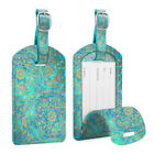 [2 Pack] Luggage Tags Name Card Holder Travel Bag Suitcase Backpack Labels