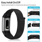 For Fitbit Charge 3 4 Woven Nylon Loop Strap Watch Wristband Bracelet Band image